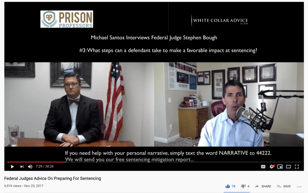 What is a federal sentencing narrative?