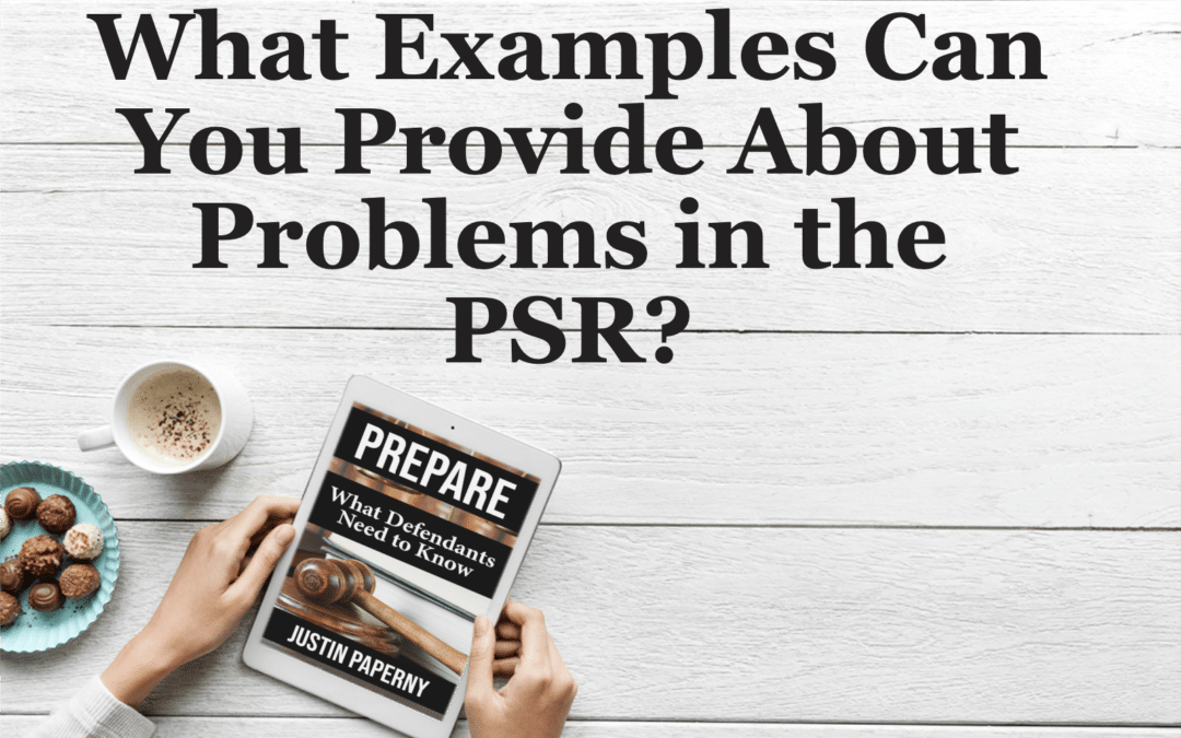 What Examples Can You Provide About Problems in the PSR?