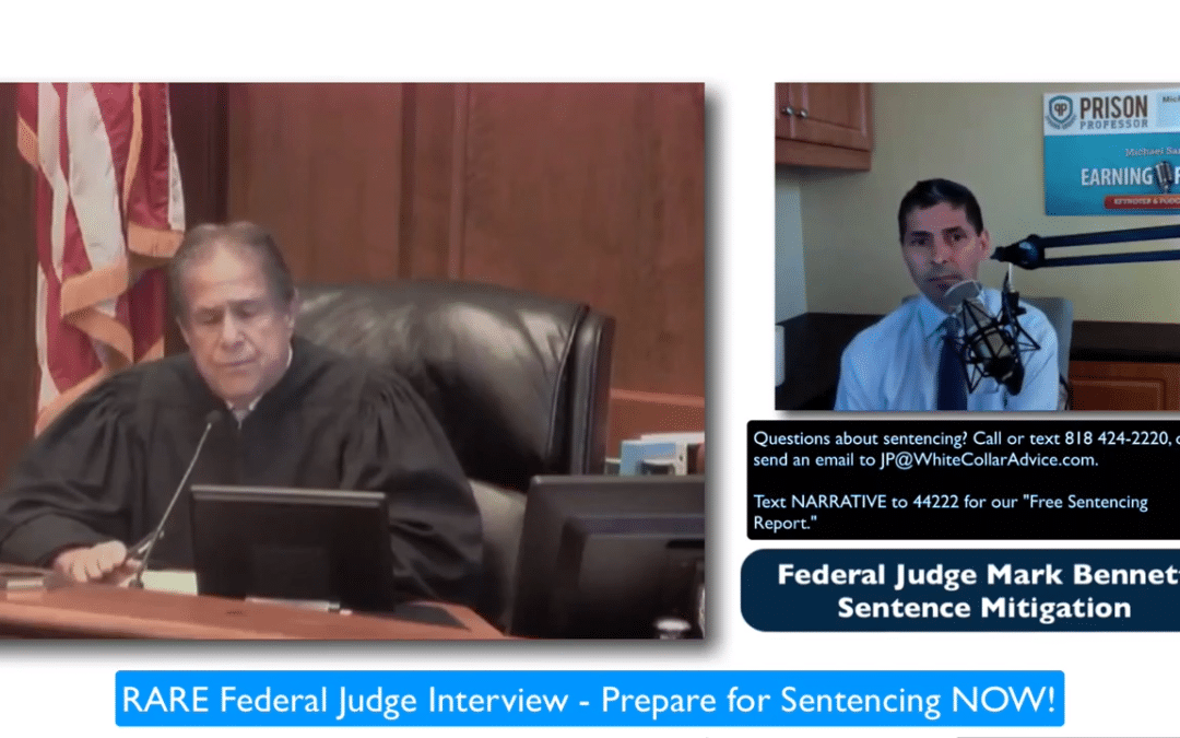 Sentencing Preparations: Federal Judge Offers Advice