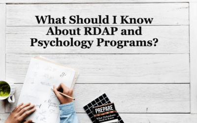 What Should I Know about RDAP and Psychology Programs? (Chapter 18)