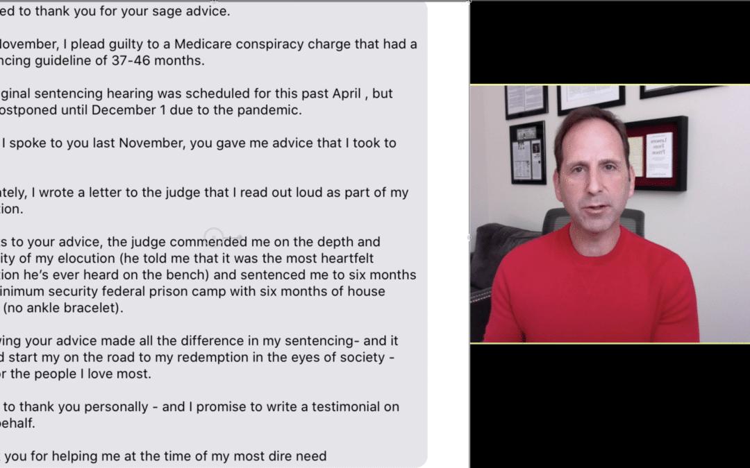 Sentencing Mitigation Plan: 6 Months Instead of 37-46 Months In Federal Prison